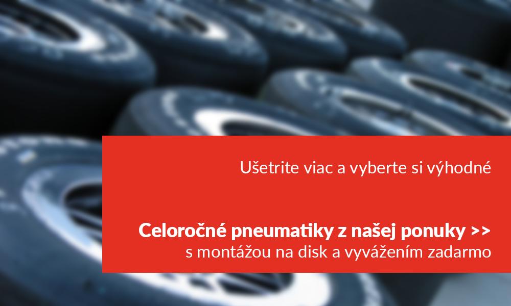 usetrite viac a vyberte si vyhodne celorocne pneumatiky z nasej ponuky s montazou na disk a vyvazenim zadarmo