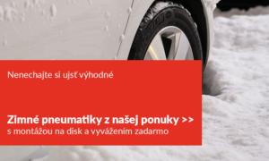 nenechajte si ujst vyhodne zimne pneumatiky z nasej ponuky s montazou na disk a vyvazenim zadarmo