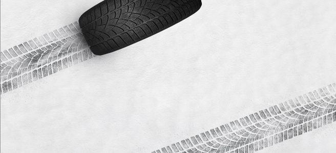 stopa zimnej pneumatiky